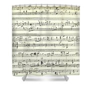 Score For The Opening Of Swan Lake By Tchaikovsky Shower Curtain