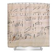 Score Sheet Of Moonlight Sonata Shower Curtain