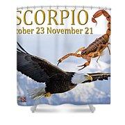 Scorpio Astrology Art Shower Curtain
