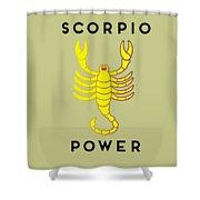 Scorpio Power Shower Curtain by Judy Hall-Folde