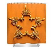 Scorpio Star Sign Shower Curtain