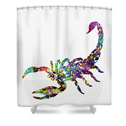 Scorpion-colorful Shower Curtain