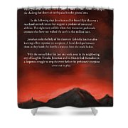 Scorpions Back Cover Shower Curtain