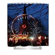 Scot Monument Christmas And Hogmanay Fair Scotland Shower Curtain