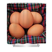 Scotch Eggs Shower Curtain