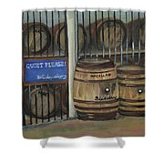Scotch Whiskey - Barrels - Macallan Shower Curtain