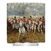Scotland Forever Shower Curtain by Elizabeth Southerden Thompson
