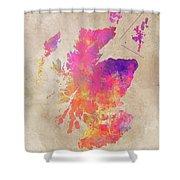 Scotland Map Shower Curtain
