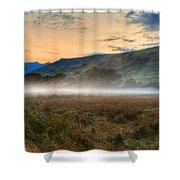 Scotland Mist In Widescape Shower Curtain