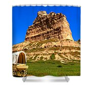 Scots Bluff National Monument Shower Curtain