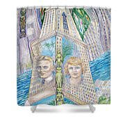 Scott And Zelda In Their New York Dream Tower Shower Curtain