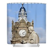 Scott Statue And Balmoral Clock Tower Shower Curtain