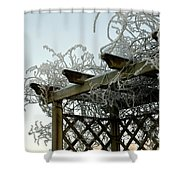 Scottish Hoar Frost Shower Curtain