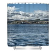 Scottish Panorama Over The River Clyde Shower Curtain
