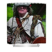 Scottish Soldier Of The Sealed Knot At The Ruthin Seige Re-enactment Shower Curtain