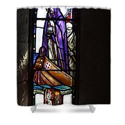 Scottish Stained Glass Window #2 Shower Curtain