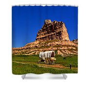 Scotts Bluff Large Panorama Shower Curtain