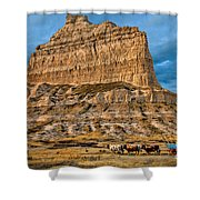 Scotts Bluff National Monument Shower Curtain