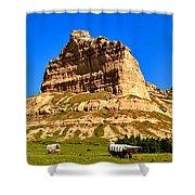 Scotts Bluff National Monument Panorama Shower Curtain