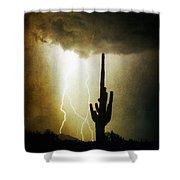 Scottsdale Arizona Fine Art Lightning Photography Poster Shower Curtain