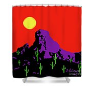 Scottsdale Mountain Shower Curtain