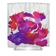 Scrambled Sunrise 2017 - Pink And Purple On White Shower Curtain