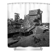 Scranton Pennsylvania Coal Mining - C 1905 Shower Curtain