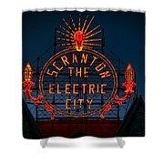 Scranton - The Electric City Shower Curtain