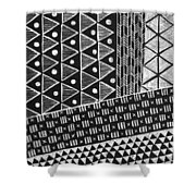 Scratchboard Kapa Pattern 1 Shower Curtain