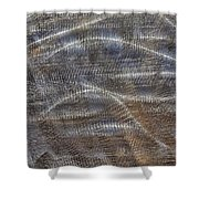 Scratched Metal Shower Curtain