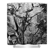 Screaming Statue Shower Curtain