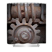 Screw And Gear  Shower Curtain