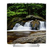 Screw Auger Falls Upper 2 Shower Curtain