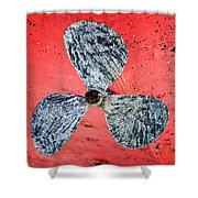 Screw Propeller Shower Curtain