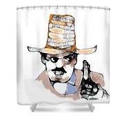Scribbler Cowboy Shower Curtain