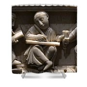 Scribes, 10th Century Shower Curtain