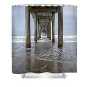 Scripps Pier La Jolla California 4 Shower Curtain
