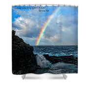 Scripture And Picture Genesis 9 16 Shower Curtain by Ken Smith