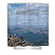 Scripture And Picture Micah 4 1 Shower Curtain