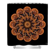 Scroll Flower Shower Curtain