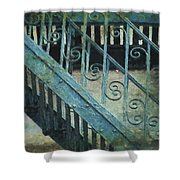 Scrolled Staircase By H H Photography Of Florida Shower Curtain