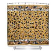 Scrolling Lotus Shower Curtain