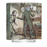 Scrooge And Bob Cratchit Shower Curtain