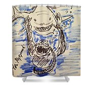 Scuba Diving With Sharks Shower Curtain