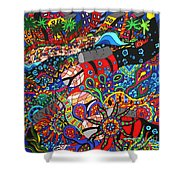 Scuba Down Under Shower Curtain