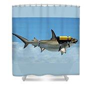 Scuba Shark Shower Curtain