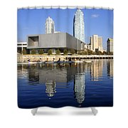Sculling By The Tampa Bay Art Center Shower Curtain