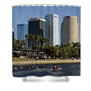 Sculling In Tampa Bay Florida Shower Curtain