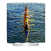 Sculling Women Shower Curtain