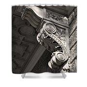 Sculpted Balcony Bracket Budapest Shower Curtain